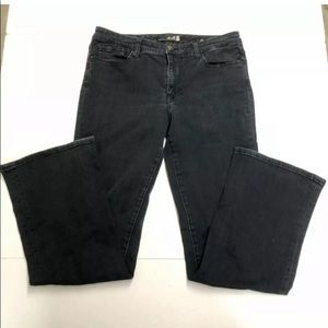 Seven 7 Women Jeans Size 10 Flare Dark Blue Denim